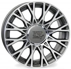 WSP GRACE FIAT hliníkové disky 6x15 4x98 ET35 CB58,1 ANTHRACITE POLISHED