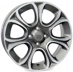 WSP EVO   FIAT hliníkové disky 6x16 4x100 ET45 CB56,6 ANTHRACITE POLISHED
